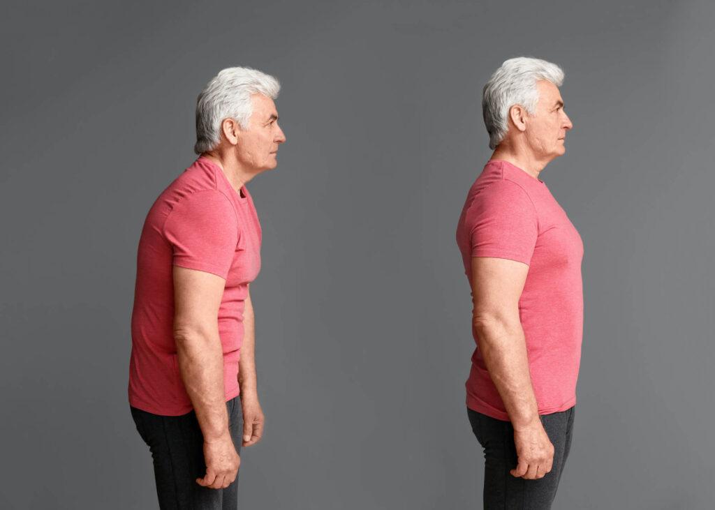 man with good posture